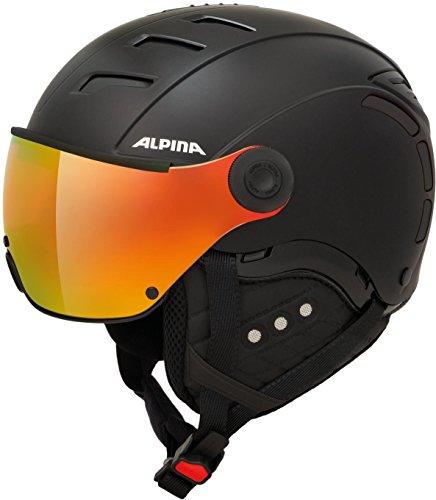 ALPINA Unisex - Erwachsene, JUMP 2.0 QVM Skihelm, black matt, 59-61 cm