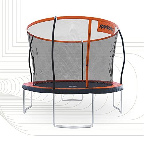 SportPlus Gartentrampolin, TÜV GS geprüft, Sprungtuch ca. 305cm, schweißnahtfreie Rahmenkonstruktion, abnehmbares Sicherheitsnetz, inkl. Randabdeckung, Nutzergewicht bis 120kg