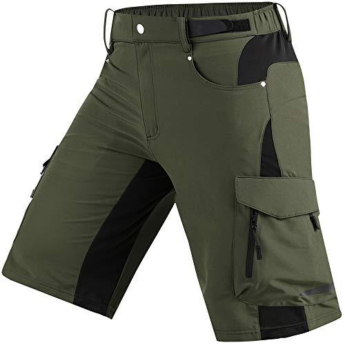 Cycorld Wanderhose Herren Kurz Trekking Shorts, Outdoor Shorts Schnell Trocknend Hiking Shorts Herren mit 6 Taschen, Herren Wandern-Trekking-Radfahren-Camping Hose Kurz