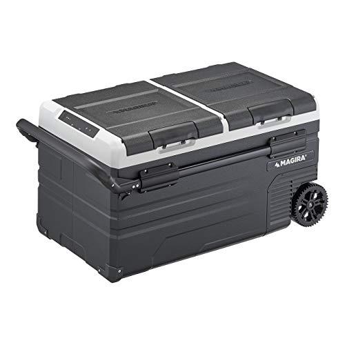 MAGIRA Canada 75 Liter Kompressor-Kühlbox Zwei Zonen 12/24V und 230V MF75-CA elektrischer Mini-Kühlschrank für Camping, Auto oder LKW
