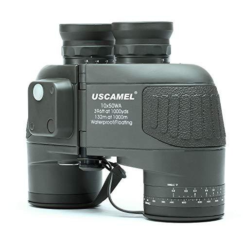 USCAMEL 10x50 Fernglas, Entfernungsmesser Kompass HD Ferngläser Hochleistung