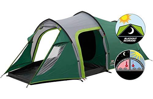 Coleman Chimney Rock 3 Plus Zelt, 3 Personen Tunnelzelt, 3 Mann Camping-Zelt, große abgedunkelte Schlafkabine blockiert bis zu 99% des Tageslichts, wasserdicht WS 4.500 mm