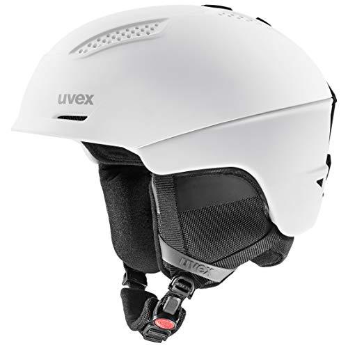 uvex Unisex- Erwachsene, ultra Skihelm, white/black, 59-61 cm