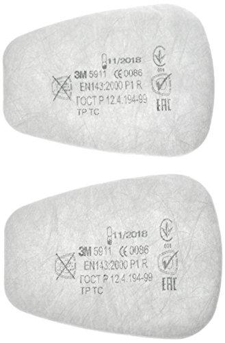 3M Partikel-Einlegefilter 5911,  P1R Partikel-Einlegefilter, 2 Stück, gegen feste und flüssige Partikel