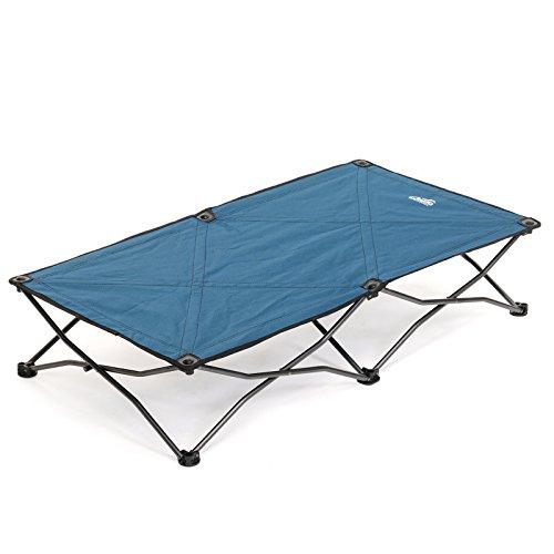 Qeedo Kinderreisebett Quick Jimmy Junior, Beistellbett, 120x62 cm, Ab 3 Jahre, bis 50kg, Blau, Camping, Jungen, Mädchen