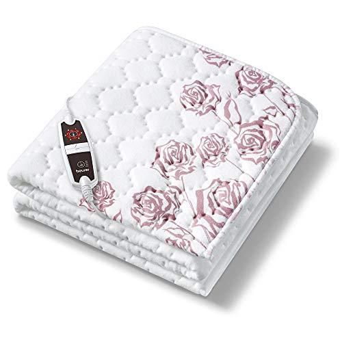 Beurer UB 75 Wärmeunterbett, anschmiegsame Wärmebettunterlage mit 6 Temperaturstufen und Schnellheizung, maschinenwaschbare Heizdecke fürs Bett