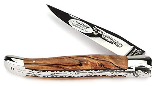 LAGUIOLE en Aubrac Taschenmesser L0712WAIF 12 cm Doppelplatine, Griffschalen Aubrac Buchenholz, Klinge 10 cm glänzend, Backen glänzend