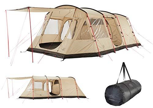Grand Canyon DOLOMITI 6 - Tunnelzelt für 6 Personen | Familien-Zelt/Gruppen-Zelt mit Zwei Schlafbereichen | Mojave Desert (Beige)