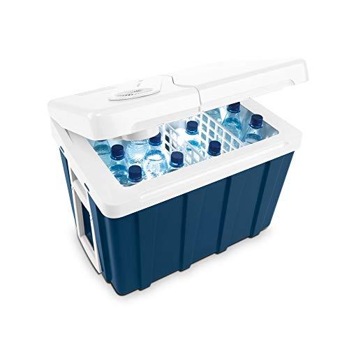 Mobicool MQ40W AC/DC - tragbare elektrische Kühlbox mit Rollen, 39 Liter, 12 V und 230 V für Auto, Lkw, Boot, Reisemobil und Steckdose