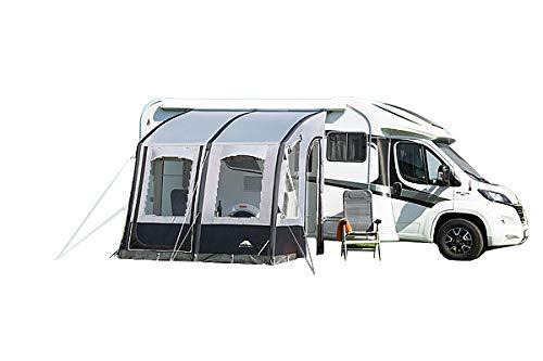 dwt Vorzelt Speed Air/High Gr. 1-4 grau Wohnwagen Buszelt Markise Camping Air-In Reisezelt leicht Mobilzelt aufblasbar Doppelhubpumpe, Größenauswahl:Gr. 1