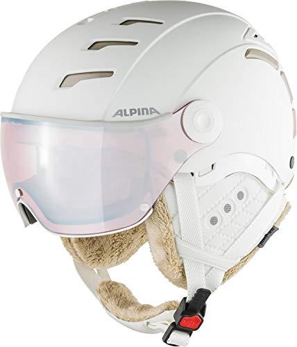 ALPINA Unisex - Erwachsene, JUMP 2.0 QV Skihelm, white-prosecco matt, 55-58 cm