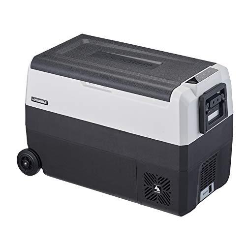 MAGIRA Arctic 50 Liter Kompressor-Kühlbox Zwei Zonen 12V und 230V DF50-C elektrischer Mini-Kühlschrank für Camping, Auto oder LKW mit Steckdose und USB-Anschluss