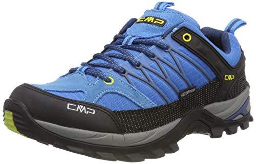 CMP – F.lli Campagnolo Herren Rigel Low Shoe Wp Trekking-& Wanderhalbschuhe, Türkis (Indigo-Marine 02lc), 47 EU