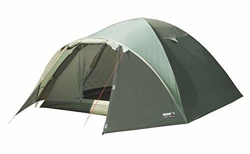 High Peak Kuppelzelt Nevada 3, Campingzelt mit Vorbau, Iglu-Zelt für 3 Personen, doppelwandig, 2.000 mm wasserdicht, Ventilationssystem, Wetterschutz-Eingang, Moskitoschutz