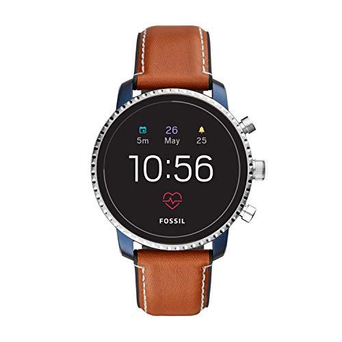 Fossil Herren Digital Smart Watch Armbanduhr mit Leder Armband FTW4016