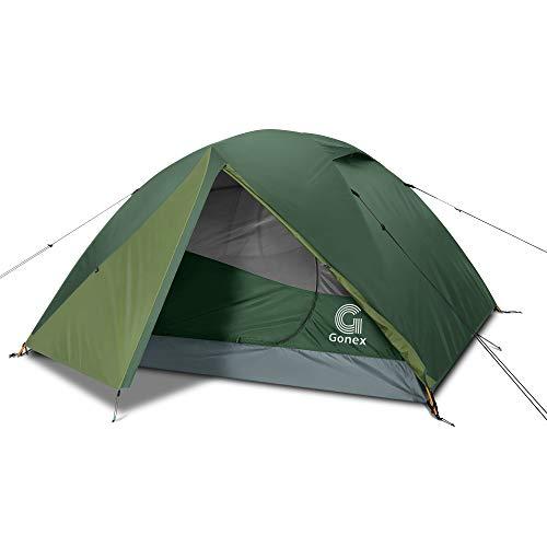Gonex Camping Zelt, 3-4 Personen Kuppelzelt Wind- und wasserdichtes Campingzelt für 3 Jahreszeiten, perfekt für Camping, Wandern, Rucksacktouren und Bergsteigen, einfache Einrichtung