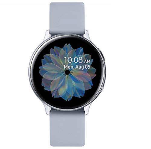 Samsung Galaxy Watch Active2 Explorer Edition, Fitnesstracker aus Aluminium, großes Display, ausdauernder Akku, wassergeschützt, 44 mm, inklusive 2x araree Schutzfolie, Bluetooth, Silber