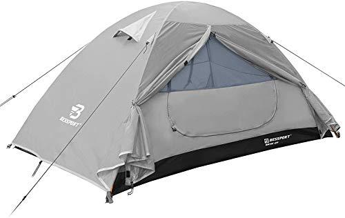 Bessport Zelt 2 Personen Ultraleichte Camping Zelte 3-4 Saison, Wasserdicht Zelt Kleines Packmaß, Sofortiges Aufstellen für Trekking, Outdoor, Festival, Camping, Rucksack