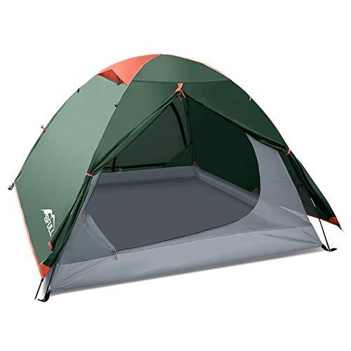 BFULL CampingZelte für Familie 2-3 Person, Ultraleicht Backpacking Zelt für Wandern, Camping im Freien, wasserdichte Doppelschicht Kuppelzelt