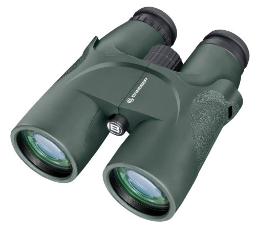 Bresser Dachkant Jagd Fernglas Condor 10x56 mit großer ֖ffnung und Mehrschichtvergütung für Beobachtungen in der Dämmerung inklusive Tragetasche und Trageriemen