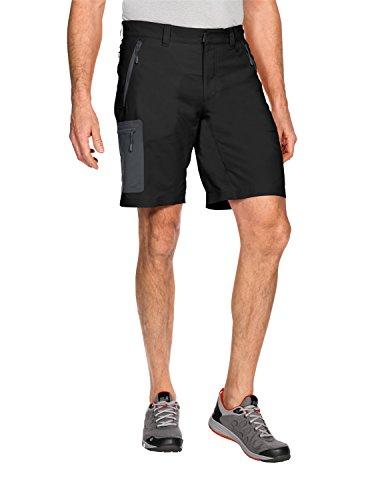 Jack Wolfskin Herren Active Track Shorts, Black, 46