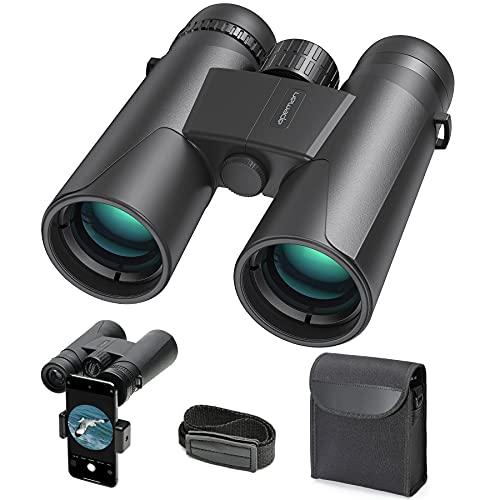 APEMAN Fernglas 10x42 Kompaktfernglas für Vogelbeobachtung, Wandern, Jagen, Sightseeing, Kleines Fernglas für Erwachsene und Kinder, FMC-Linse, Tragetasche und Smartphoneadaptera
