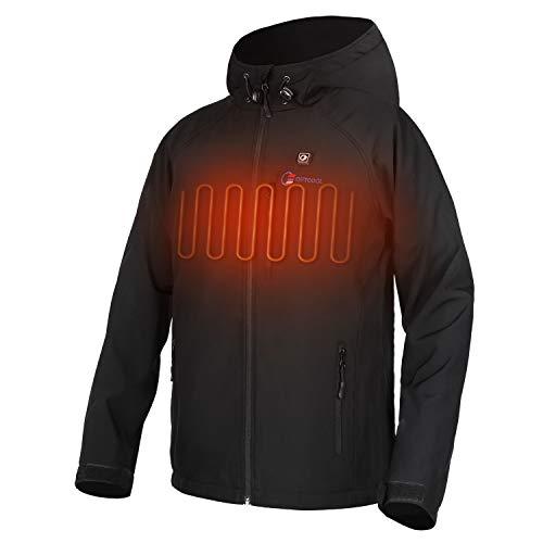 OUTCOOL Beheizte Jacke Herren Beheizbare Heizjacke mit Akku zum Outdoor Arbeiten Tägliches Tragen