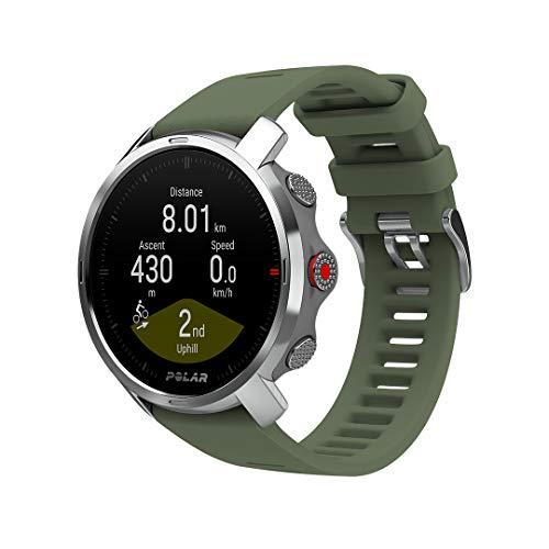 Polar Grit X – Robuste Outdoor-GPS-Uhr, Kompass, Höhenmeter, Strapazierfähigkeit auf Militärniveau für Wandern, Trailrunning, Mountainbiking – Extrem lange Akkulaufzeit