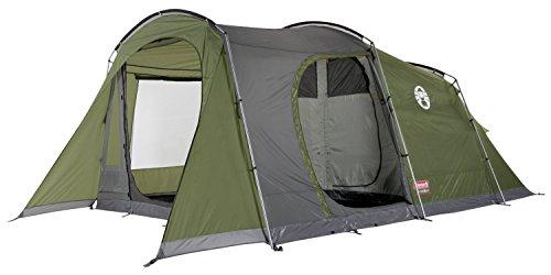 Coleman Zelt Da Gama 5 Personen, 5 Mann Zelt, Tunnelzelt, Familienzelt mit Stehhöhe und Vorzelt, Wasserdicht WS 3.000mm