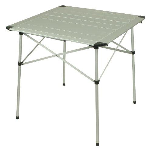10T AluTab Campingtisch 70x70cm mobiler 2 - 4 Mann Aluminium Tisch wasserfester Roll-Up Gartentisch