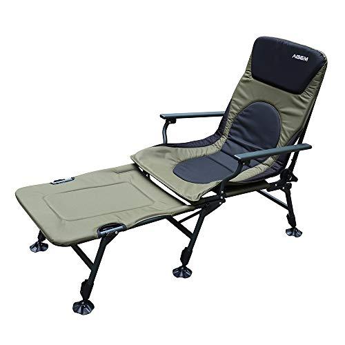AGEM Liegestuhl Klappbar Campingstuhl Relaxliege Carp Liege Fishing Chair Karpfen Stuhl