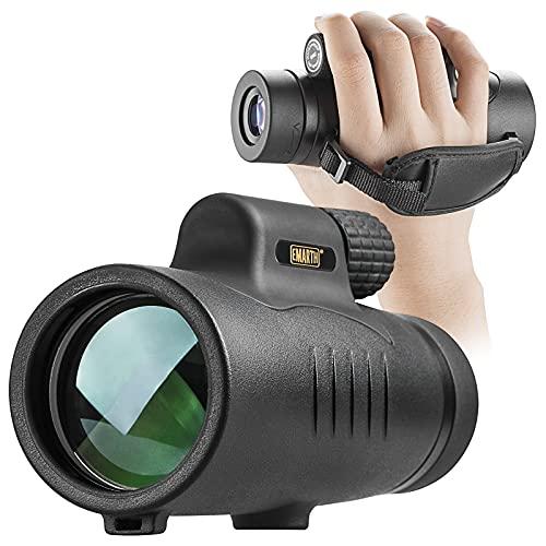 Emarth Starscope Monokular, 8x42HD Wasserdicht high Power Zoom Fernrohr Handy Stoßfest mit Handschlaufe,Fernrohr Monokular, BAK4-Prisma und FMC für Vogelbeobachtung, Wandern, Konzert, Ballspiel, Jagd