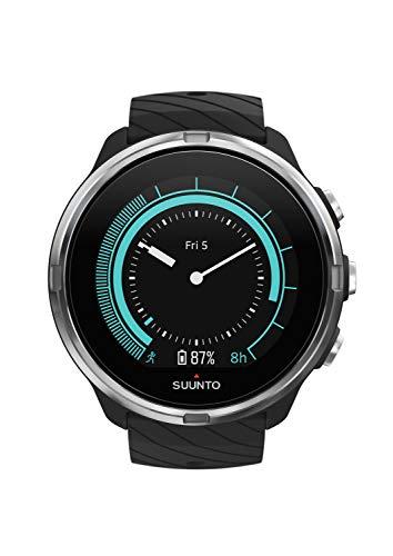 Suunto 9 Unisex Multisport-GPS-Uhr, Über 25h Batterielaufzeit, Wasserdicht bis 100m, Herzfrequenzmessung, Farbdisplay, Mineralkristallglas, Schwarz, SS050142000