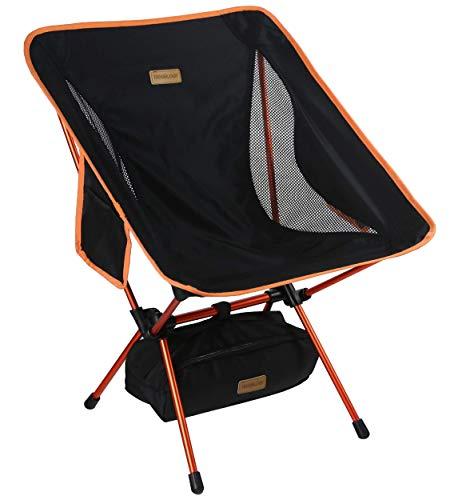 TREKOLOGY YIZI GO tragbarer Campingstuhl mit Verstellbarer Höhe - Kompakter, ultraleichter, zusammenklappbarer Reisestuhl inklusive Tragetasche, mit Einer Kapazität von bis zu 140 kg
