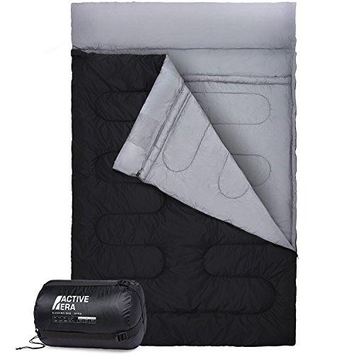 Active Era™ XL Schlafsack für 2 Personen - Großer Deckenschlafsack der in 2 Einzel Schlafsäcke geteilt werden kann - Ideal für Camping, Wandern, Zelten, Paare