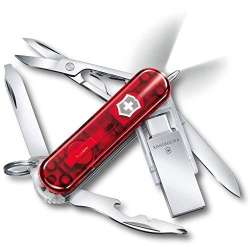 Victorinox Midnite Manager Work Taschenmesser, mit 16GB USB-Stick, 11 Funktionen, Schere, Schraubendreher, rot