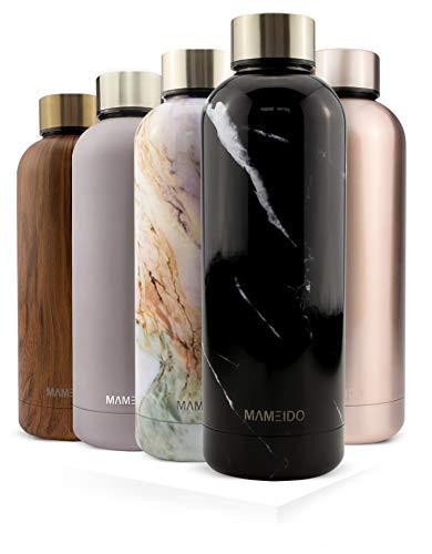 MAMEIDO Edelstahl Trinkflasche 500ml & 750ml, auslaufsichere Thermosflasche, Wasserflasche BPA frei, Isolierflasche, Thermoskanne Wasser, Kaffee & Tee