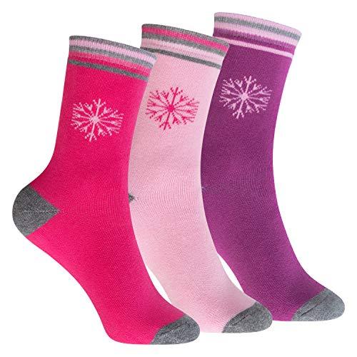 Footstar Kinder Frottee-Socken mit Motiv (3 Paar), Warme Socken mit Thermoeffekt