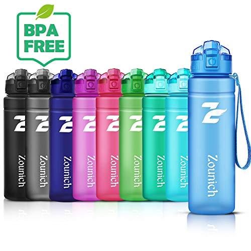 ZOUNICH Trinkflasche Kinder Auslaufsichere 1.2L/1L/700ml/500ml-BPA frei trinkflaschen Sport tritan Kunststoff Wasserflasche für Fahrrad, Schule, kohlensäure geeignet, spülmaschinenfest Sportflasche
