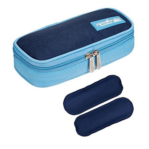 Diabetikertasche ONEGenug Kühltasche mit 2 Kühlakkus Insulin Tasche für Diabetes Spritzen, Insulininjektion und Medikamente 20x4x9cm