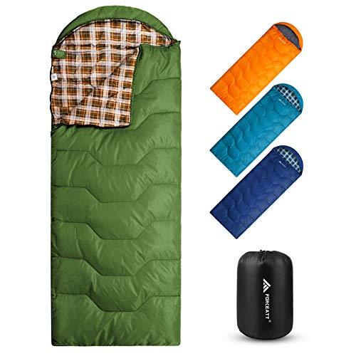 Forceatt Schlafsack Sommer, 3-4 Jahreszeiten Deckenschlafsack, Wasserdichter Leichter für Camping - Ideal für Erwachsene und Jugend Schlafsack - 215 x 80 cm, Wasserdichter-Leicht-Warm-Atmungsaktiv.