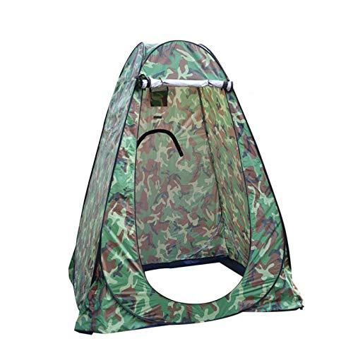 KOFOHON Sichtschutz Duschzelt tragbar Outdoor Sonnenschutz Camping WC Umkleidezimmer, camouflage, suitable for one person:48'x48'x75'