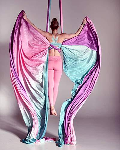 Ombre Antennen-Seide, 13m, handgefärbt, für Yoga, Aerial Yoga Hängematte, Luftakrobatik, Zirkus-Kunst, Aerial Dance, 13 Yards
