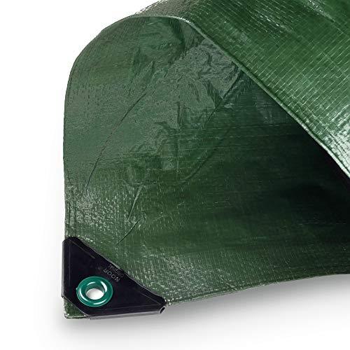 NOOR Abdeckplane Hobby 120g/m² Grün I 4 x 5 m I Allzweckplane für Schutz vor Witterung I Ideal geeignet für den Garten I UV-stabilisiert, beidseitig beschichtet, wasserfest, abwaschbar & langhaltig