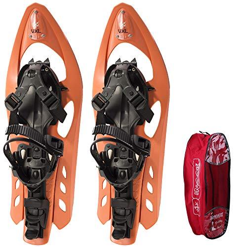 Inook VXL Schneeschuhe I Schneeschuhe mit Steighilfe I EU 34-43 I Schneeschuh Set mit praktischer Schneeschuhe Tragetasche I Individuell größenverstellbar und vielen patentierten Funktionen