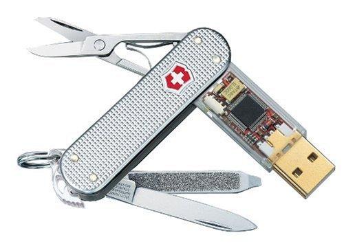 Victorinox Taschenmesser Swiss Flash Alox 4GB, 14,5 x 116 x 2,2 cm