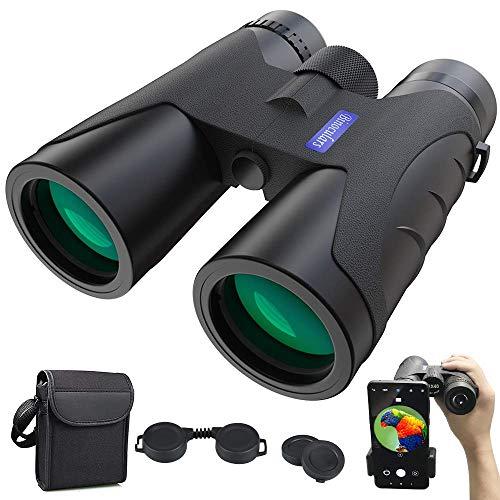 Fernglas 12x40 HD Anti-Fog Ferngläser Nachtsicht-Funktion | BAK4 Prismen FMC Binoculars mit Tragetasche und Mobiltelefonadapter Outdoor Teleskop für Tierbeobachtungen,Wandern,Jagd