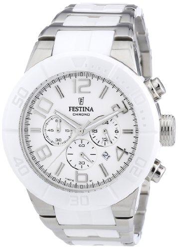 Festina Unisex Chronograph Quarz Uhr mit Edelstahl Armband F16576/1