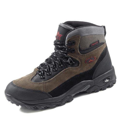 Brütting Unisex - Erwachsene Sport- und Outdoorschuhe Milan,Outdoor Schuhe,lose Einlage,wasserdicht,atmungsaktiv,schwarz/grau/rot,43 EU