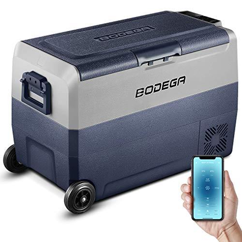BODEGA 50L Auto kühlschrank kühlbox -20℃-20℃ minikühlschrank Wohnwagen Outdoor Camping LKW Gas 12/24V DC,100-240V AC Kompressor kühlbox,Berühren oder Telefonsteuerung, Auto
